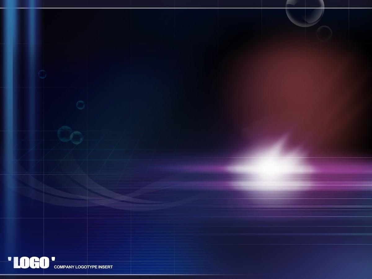 蓝色背景的暗色的经典商务PPT模板