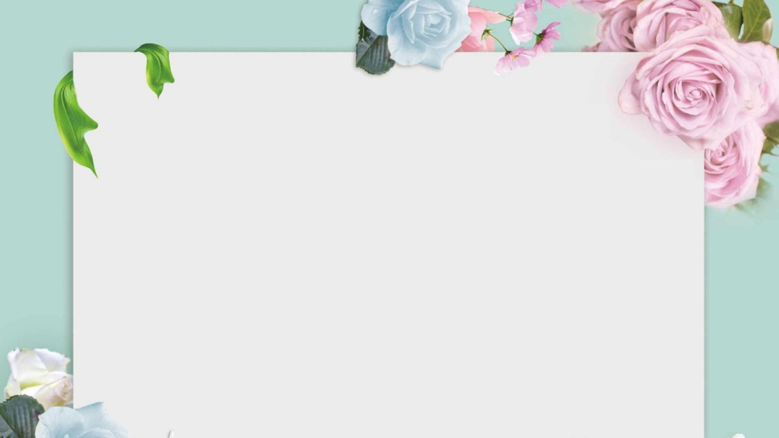 绿色清新花卉PPT背景图片