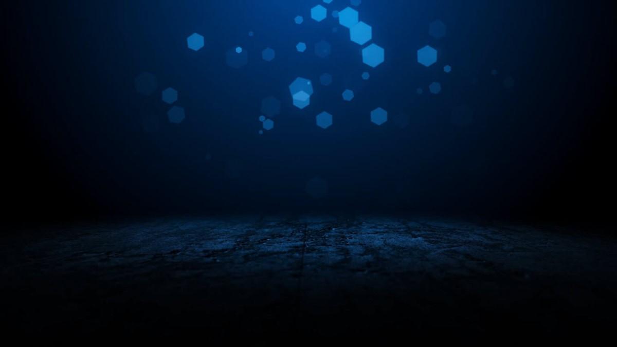 蓝色多边形背景的科技幻灯片背景图片