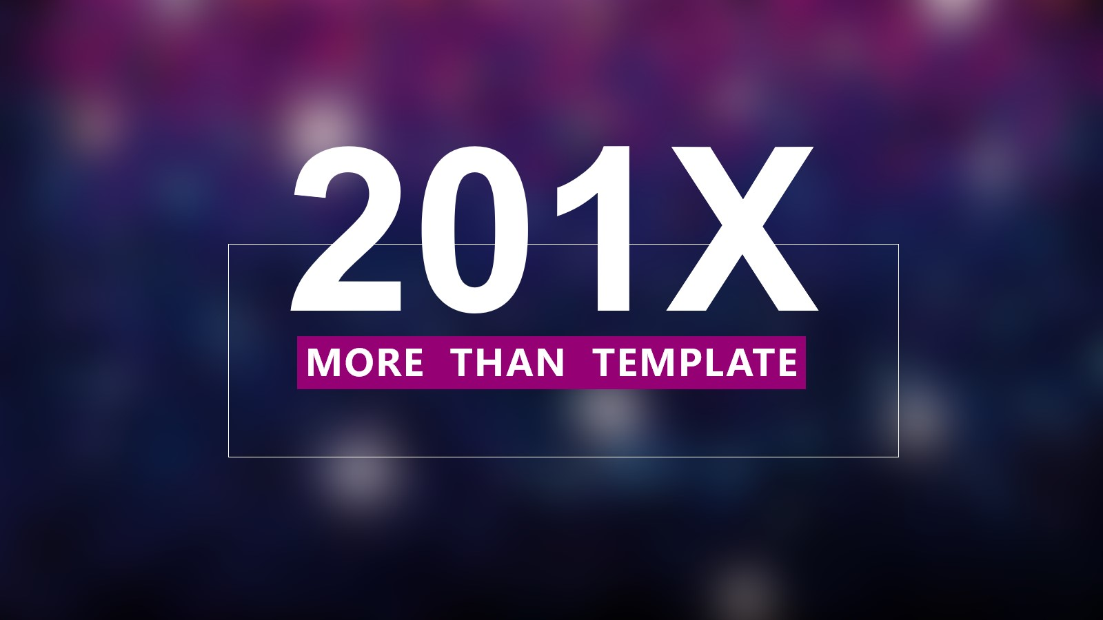 紫色炫彩透明背景的简洁PPT模板