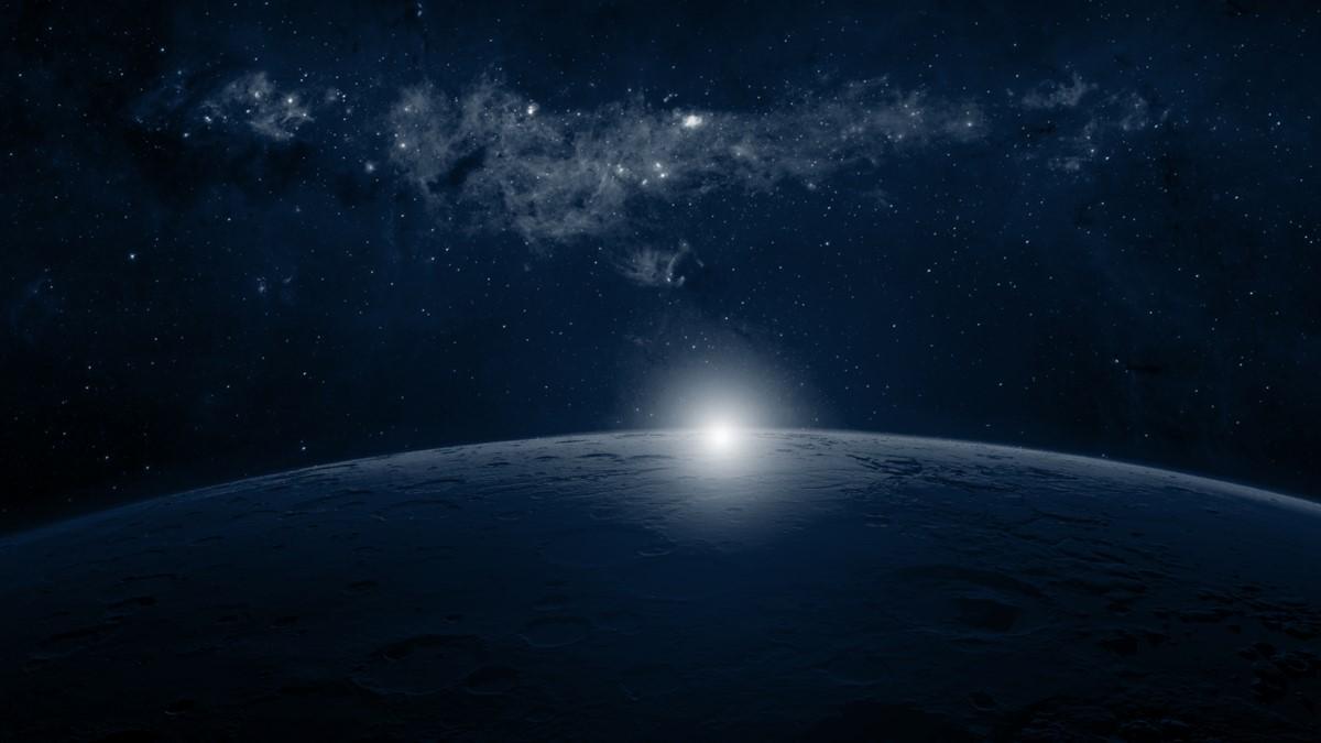 星空星球背景PPT背景图片