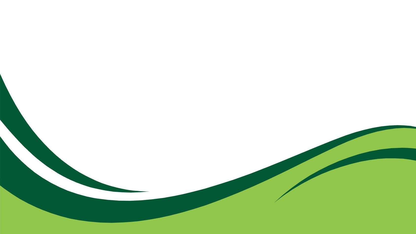 绿色简洁曲线PPT背景图片
