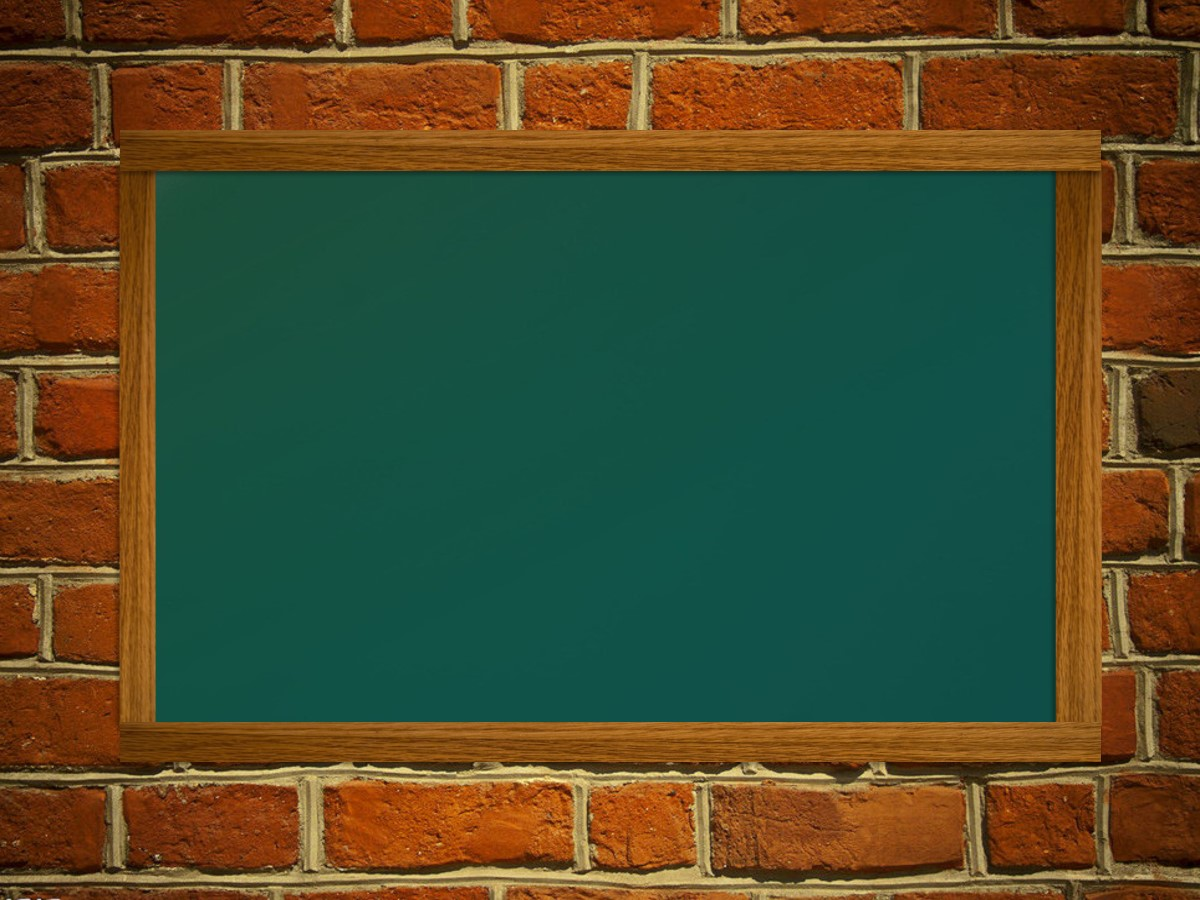 砖墙上的黑板背景教育课堂PowerPoint模板