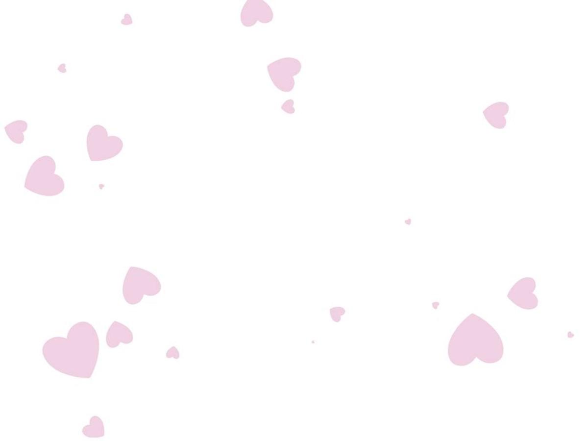 温馨粉色爱心飘落爱情幻灯片背景模板