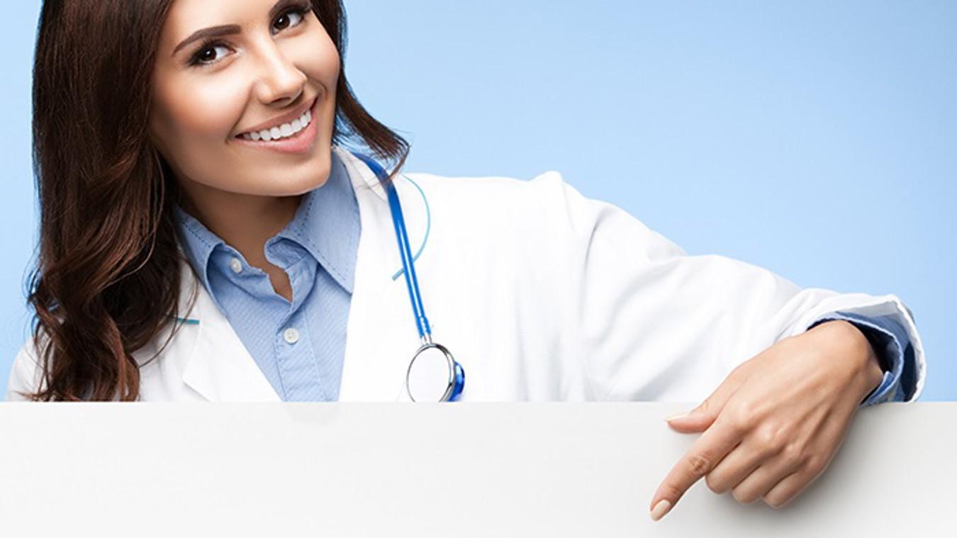 医疗行业PPT模板 医生背景医疗用PPT模板