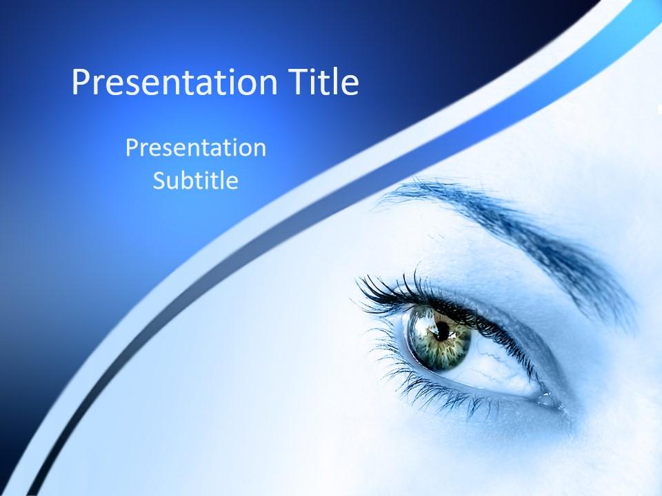 医院眼科PPT设计模板