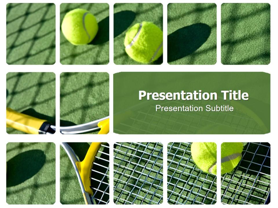 网球运动PPT模板