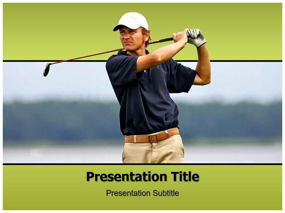 高尔夫运动PPT模板