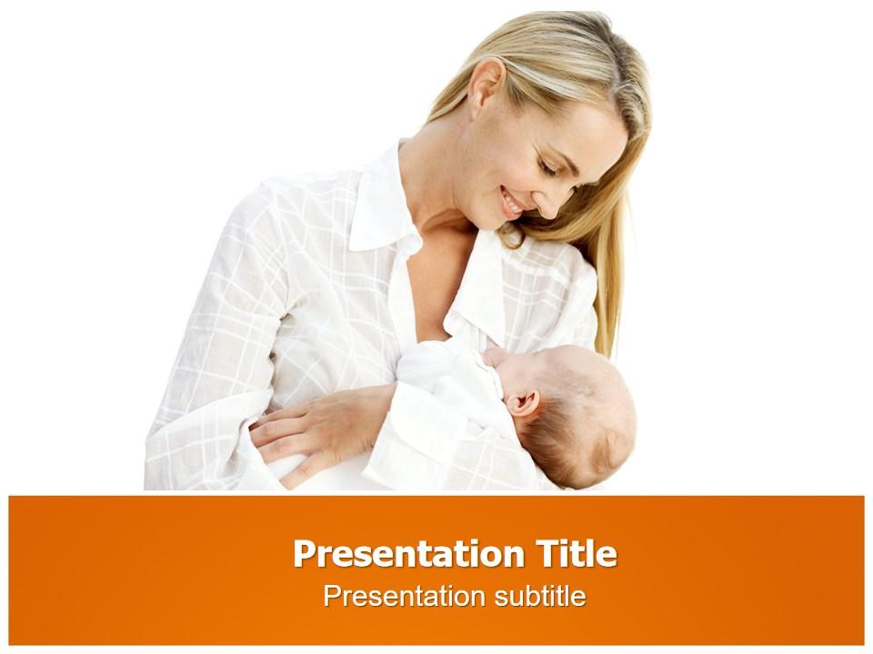 母亲与婴儿PPT模板