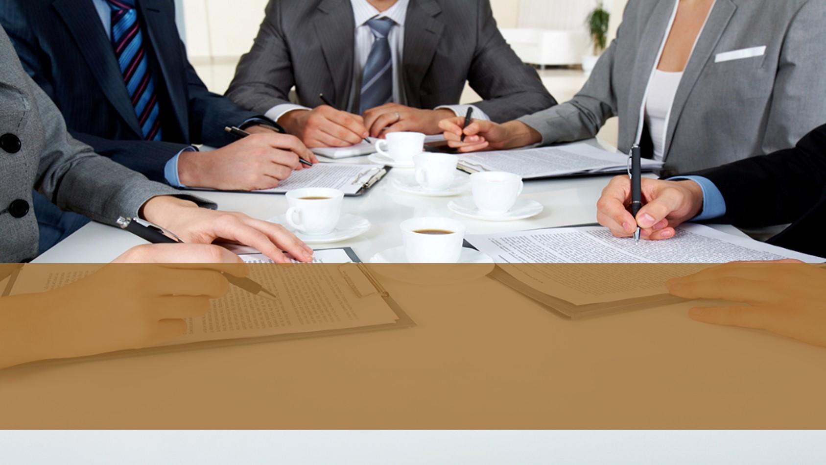 雅致商务战略合作会议PPT模板