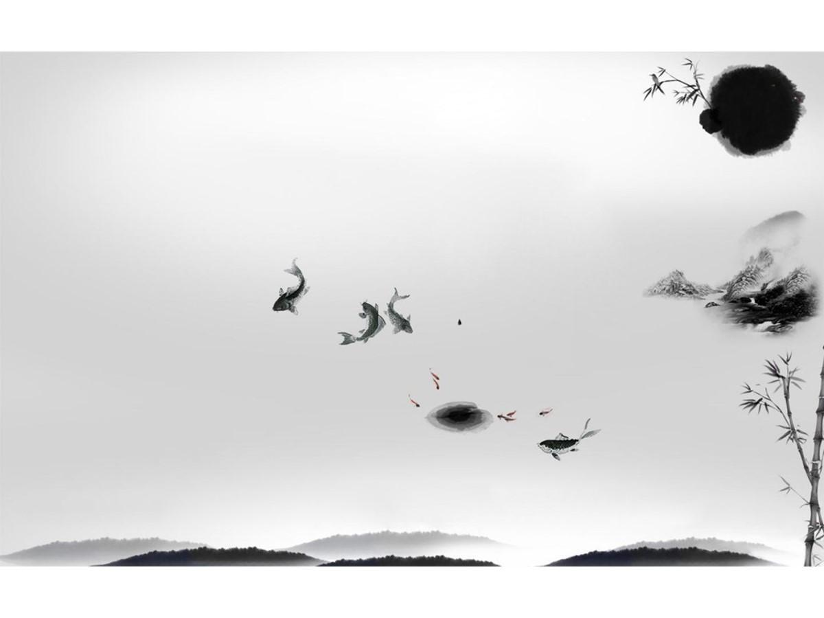 十一张实用的水墨中国风幻灯片背景图片