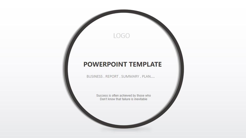 英文黑白简洁设计PPT背景 极简欧美商务PPT模板