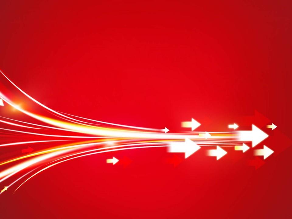 红色箭头背景的抽象艺术幻灯片模板