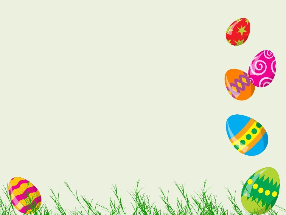 可爱的彩蛋幻灯片边框背景卡通PPT模板