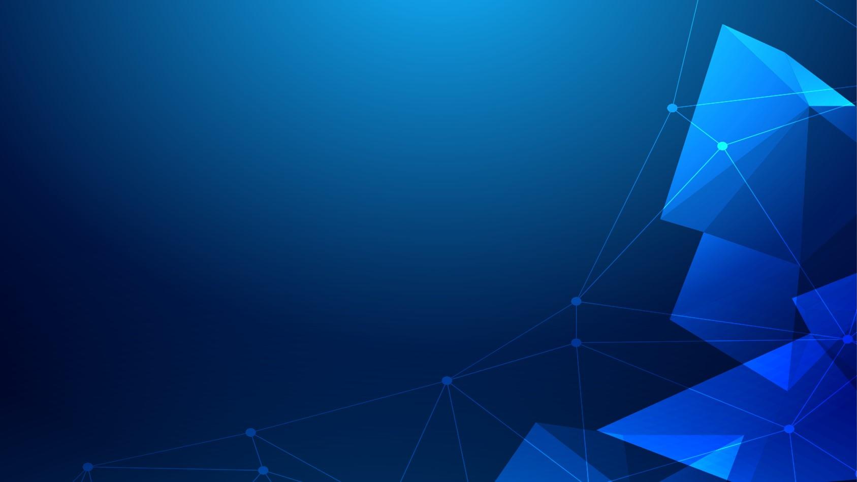 点线多边形背景科技风 科技行业工作总结PPT模板