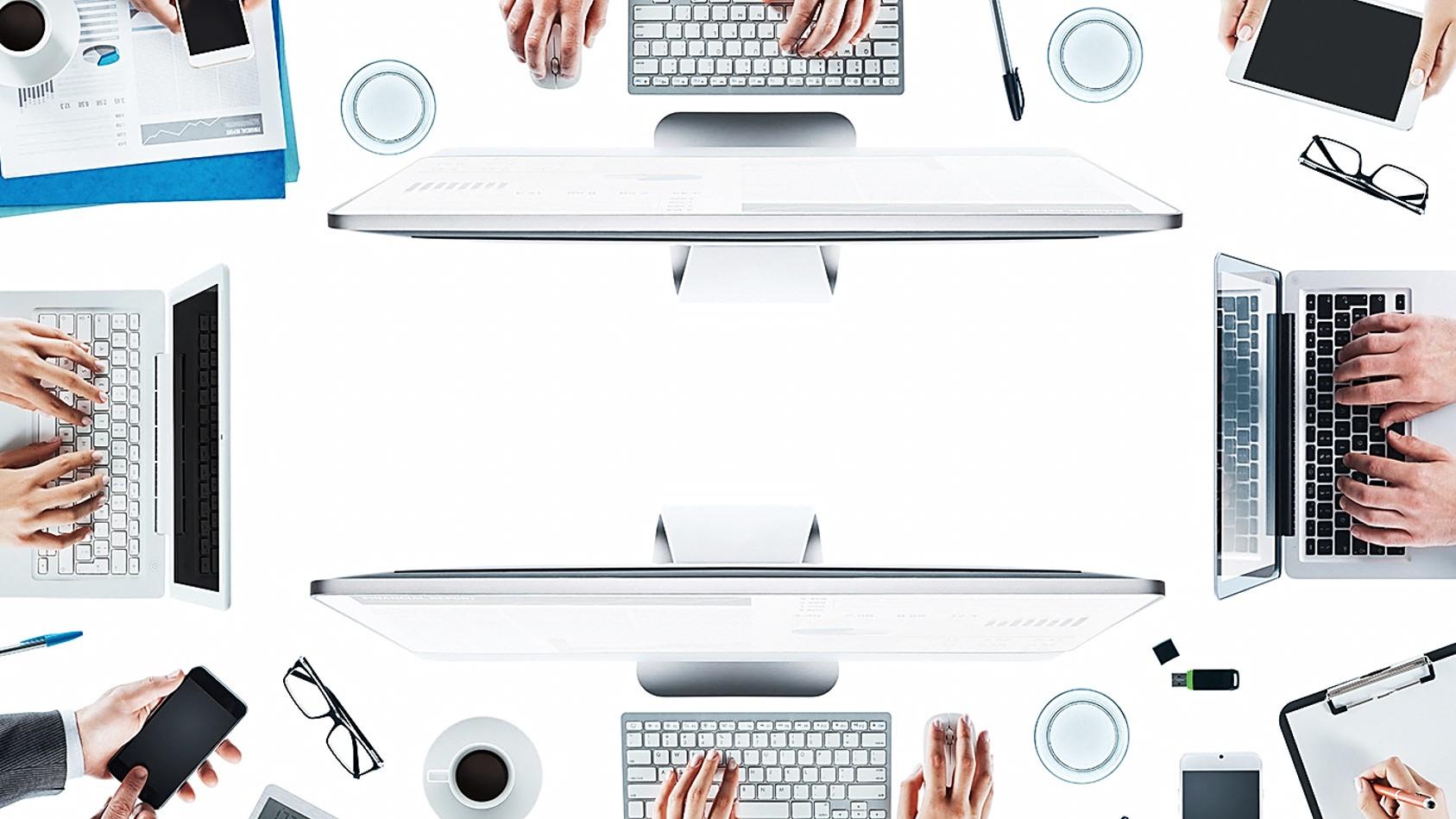 办公桌面背景 大学生职业规划PPT模板
