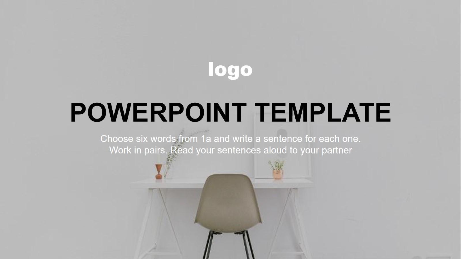 简洁欧美室内家居设计展示PPT模板 装修公司室内设计装修案例介绍PPT