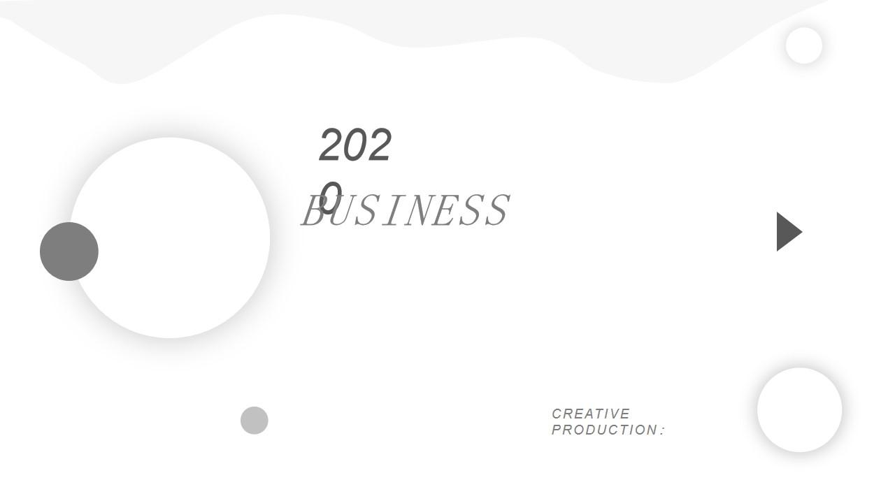 2020简洁风PPT模板 灰色背景PPT模板