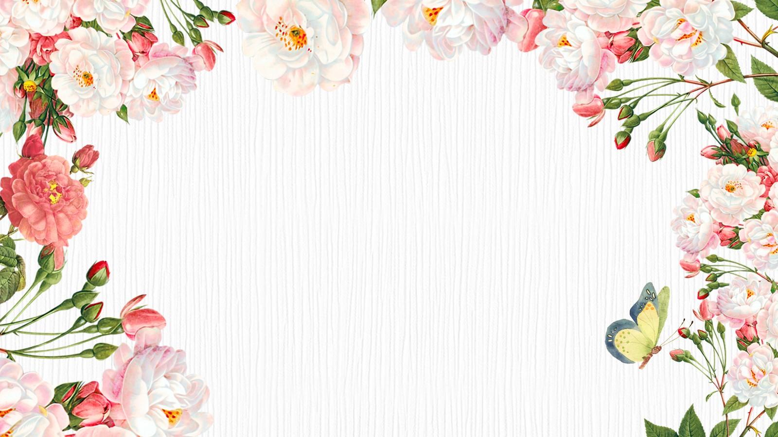 鲜花花朵幻灯片背景图片PPT