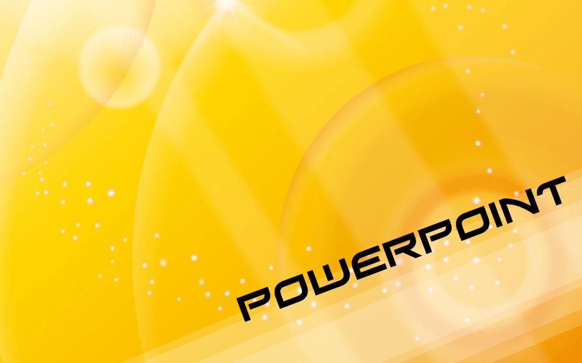 黄色光晕艺术设计PPT模板