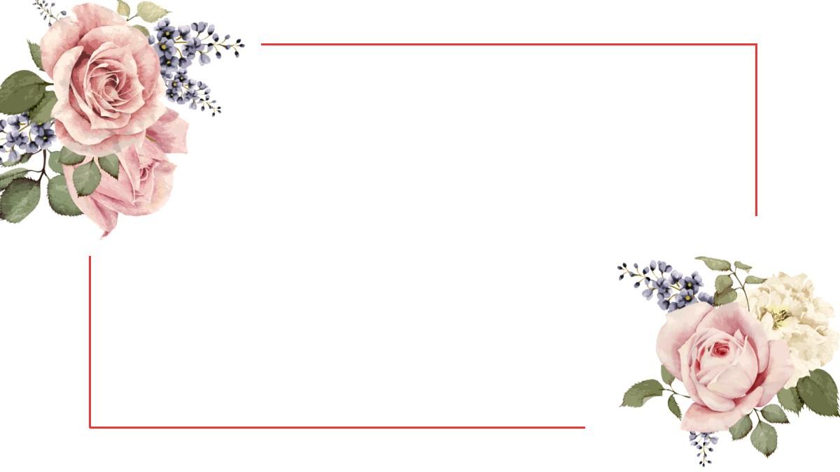 清新花卉PPT背景图片