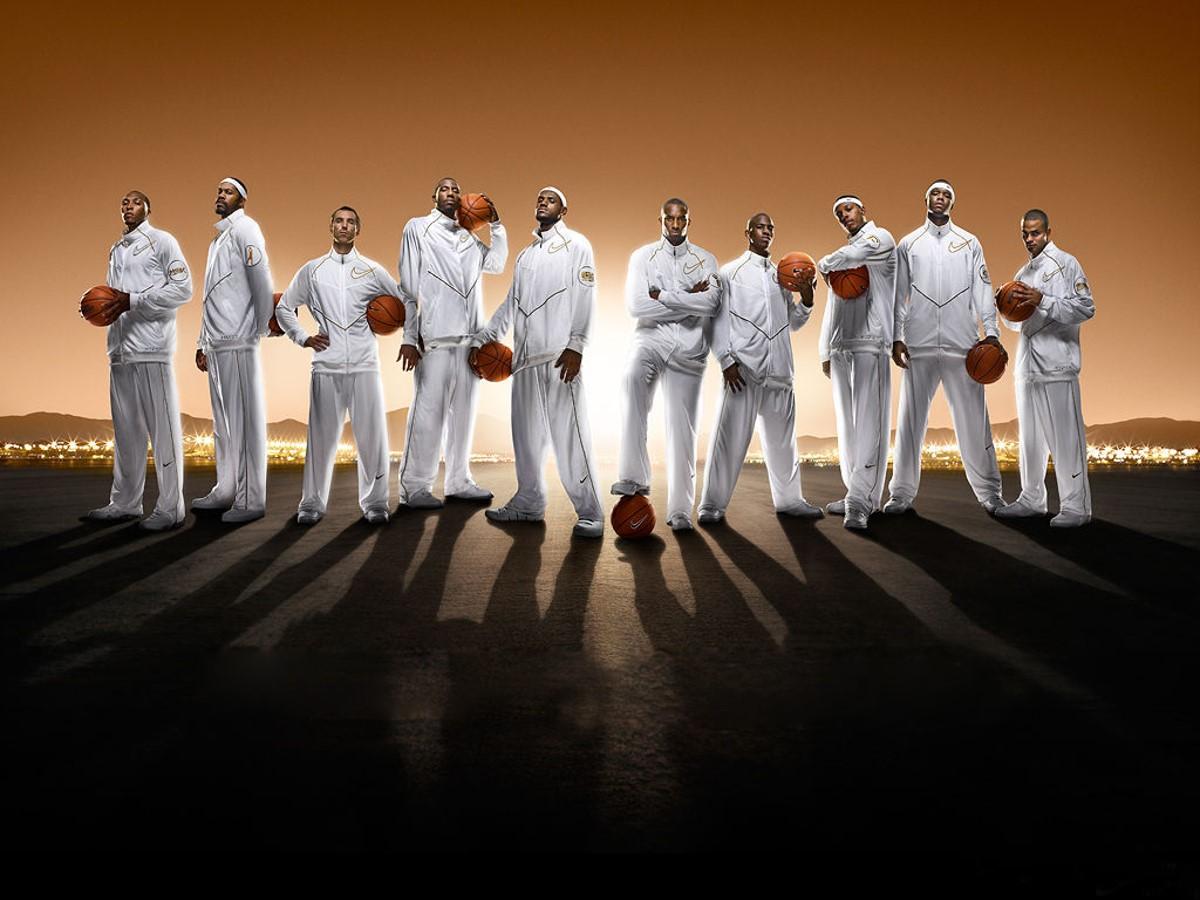 NBA篮球明星运动员背景体育PPT模板