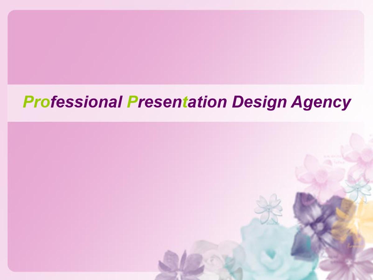 粉色花朵艺术PPT模板
