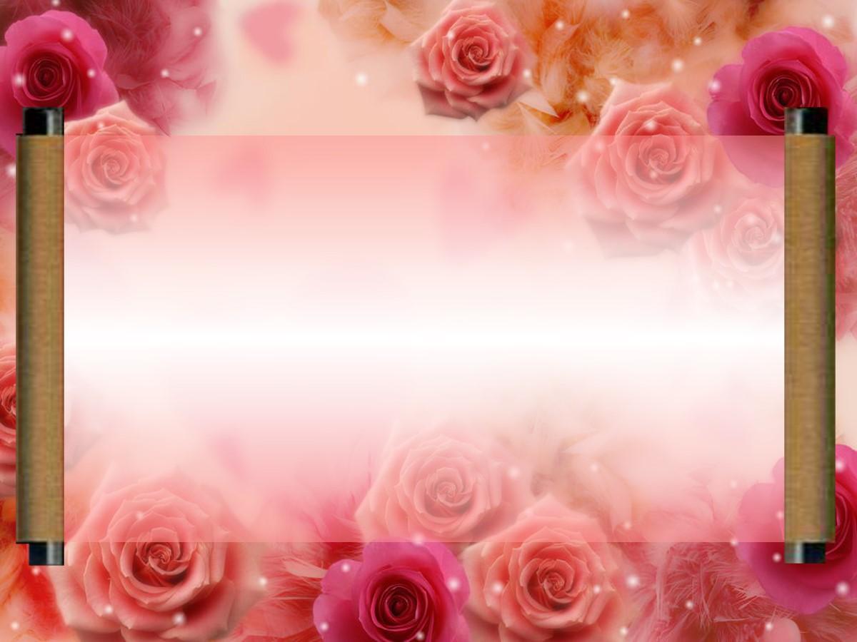 红玫瑰背景爱情PPT背景模板