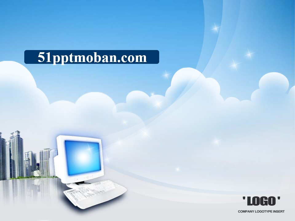 漂亮的韩国电脑科技PPT模板