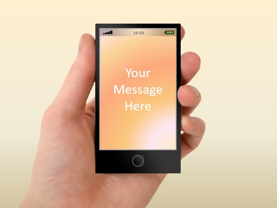 掌中科技 触握未来――触摸产品科技PPT模板
