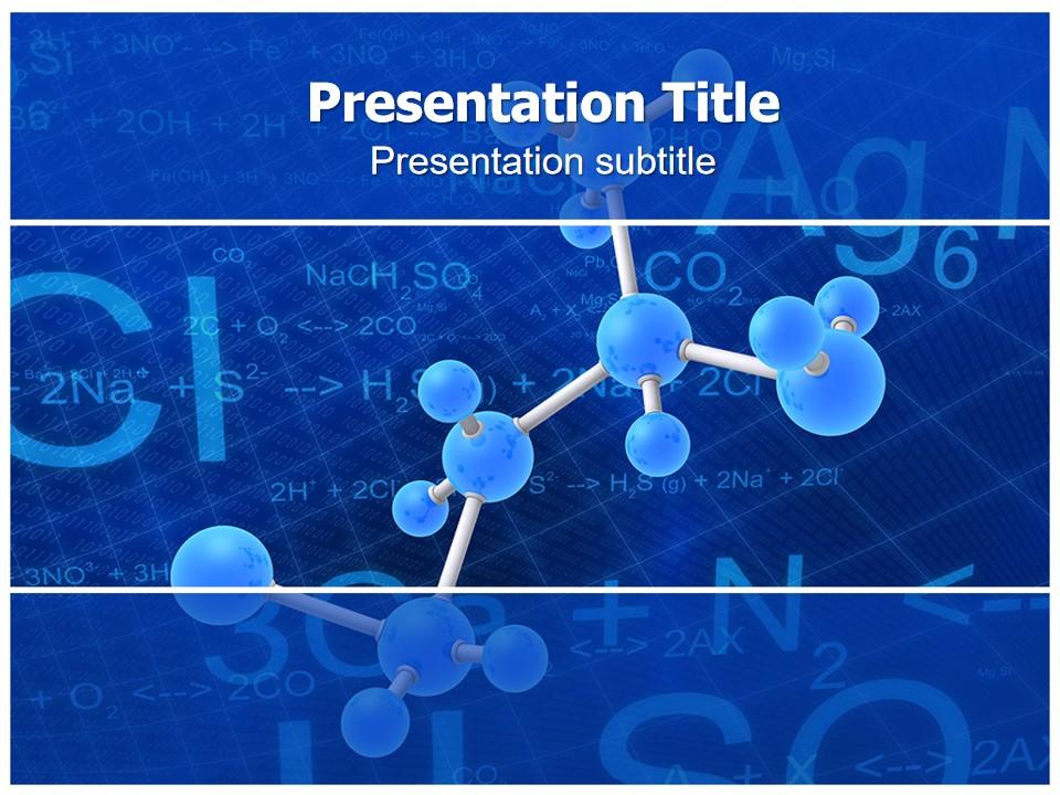 分子结构图化学式生物科技PPT模板