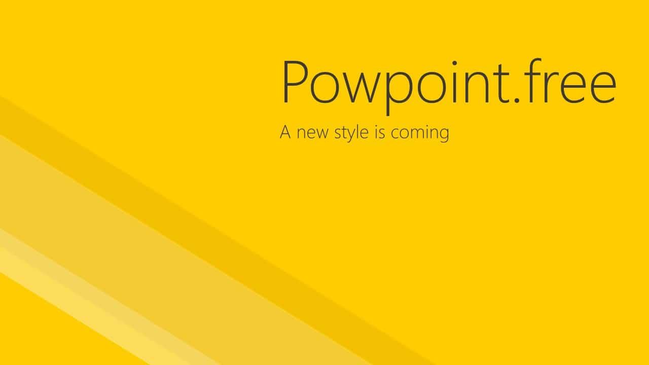 黄色醒目极简风格PPT模板
