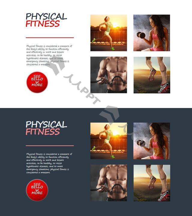 健身知识讲解图文PPT板式长图
