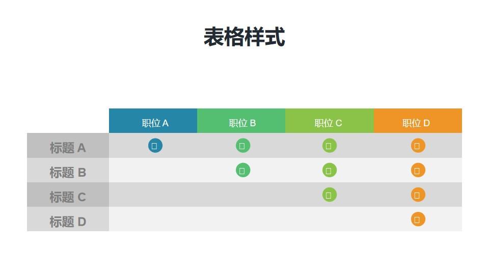 工作职能表/功能表PPT模板素材
