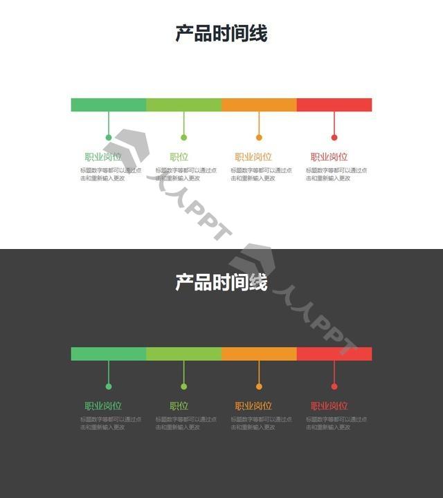 工作经历/产品时间线/时间轴PPT素材长图