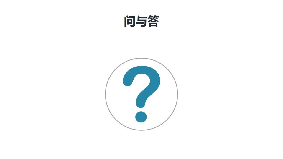 大问号/问与答/QA提问页PPT模板