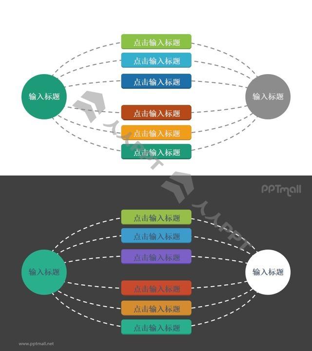 1-6-1总分总逻辑关系的PPT素材长图