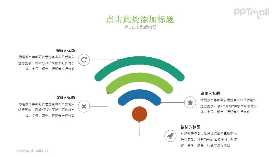 超大的wifi信号PPT图示素材