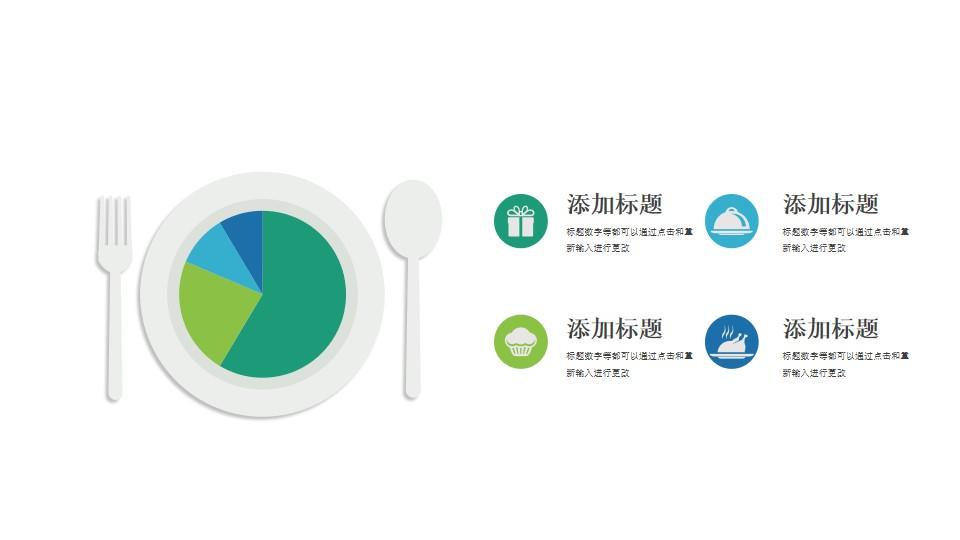 餐盘里的饼图(吃掉饼图数据示意图)PPT模板