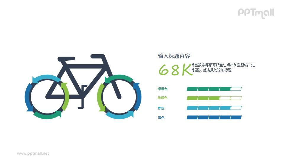 自行车PPT图示素材
