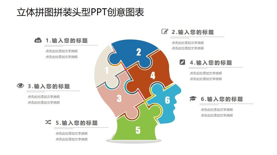 人大脑的组成部分PPT图示素材