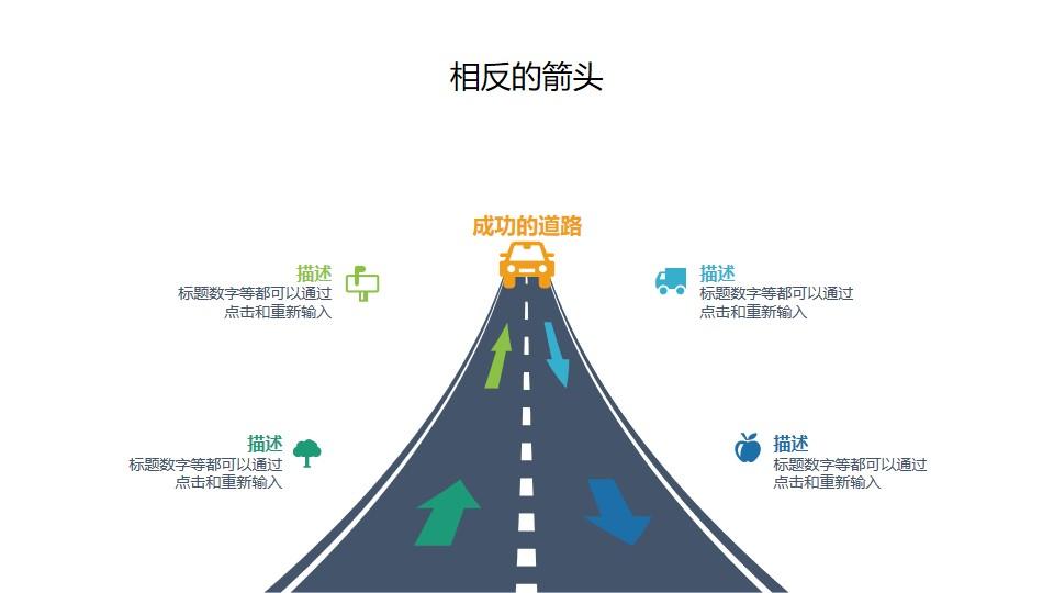 成功的道路/高速公路PPT素材