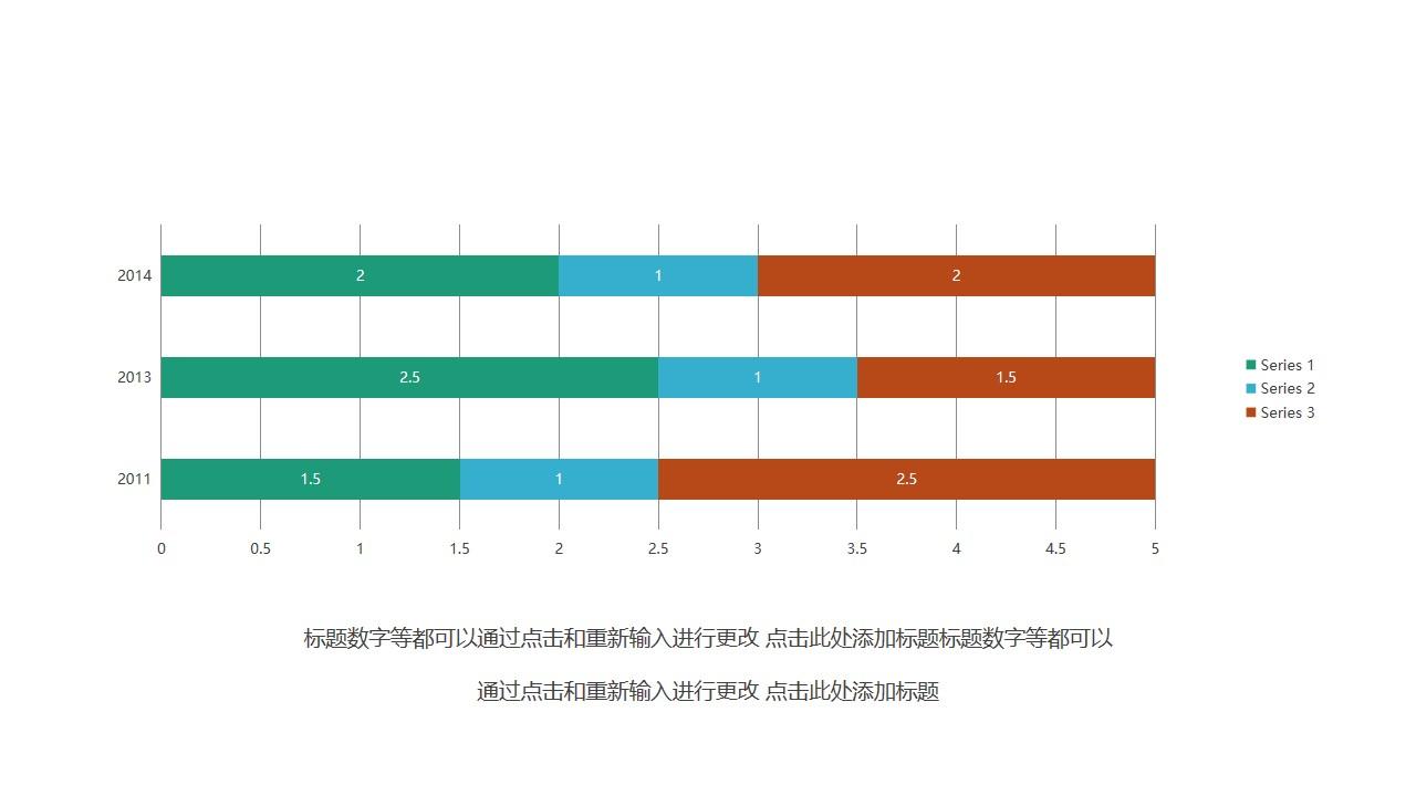 简约三色条形图PPT图表素材