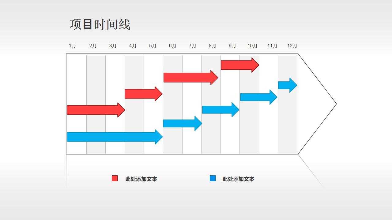 12个月的项目进度表PPT素材